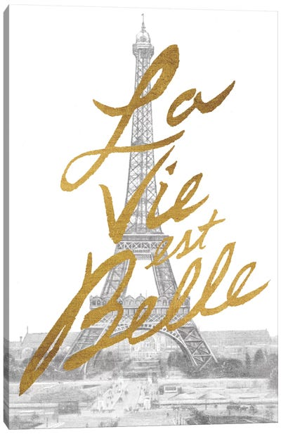 Gilded Paris Canvas Art Print