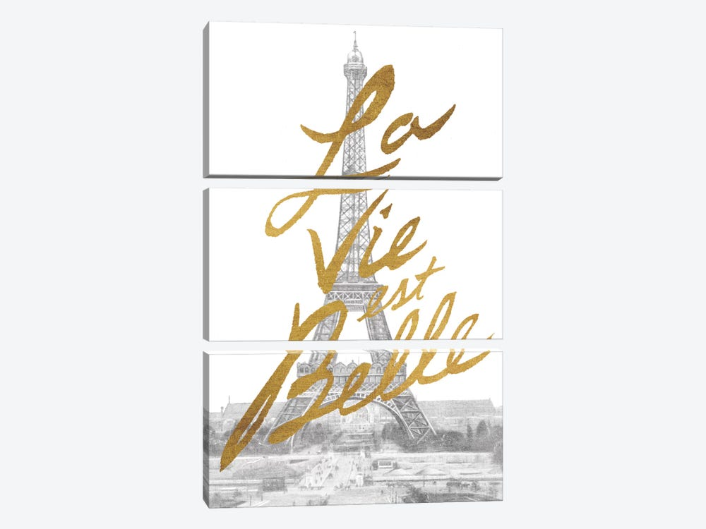 Gilded Paris by All That Glitters 3-piece Canvas Artwork