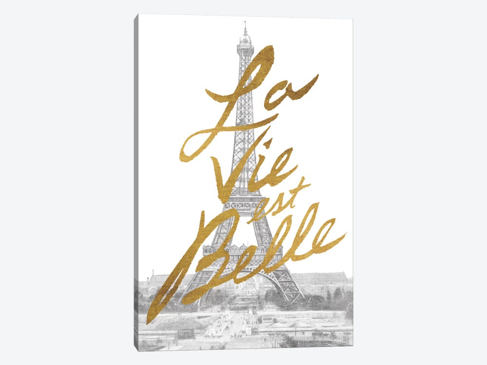 Gilded Paris by All That Glitters 1-piece Canvas Wall Art