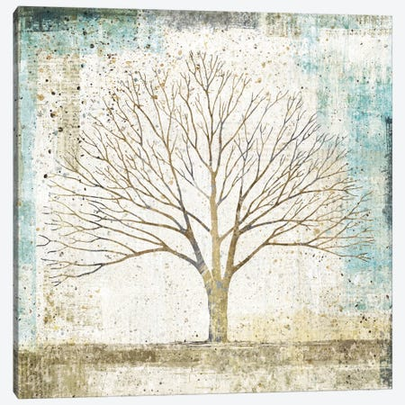 Solitary Tree Collage Canvas Print #WAC3226} by All That Glitters Art Print