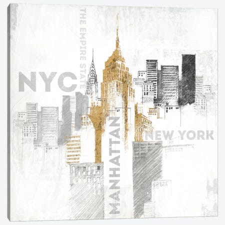 Empire State Building Canvas Print #WAC3228} by All That Glitters Canvas Art