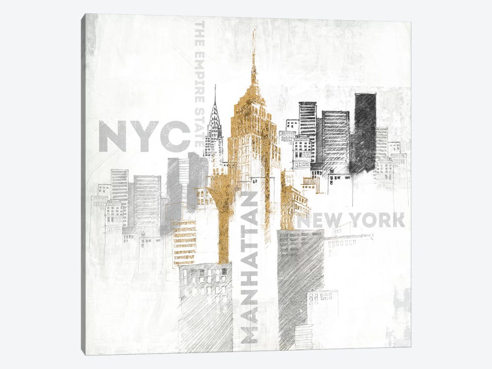 Empire State Building by All That Glitters 1-piece Canvas Print