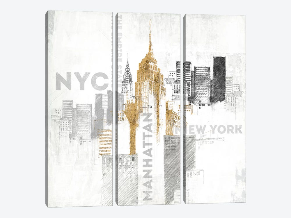 Empire State Building by All That Glitters 3-piece Art Print