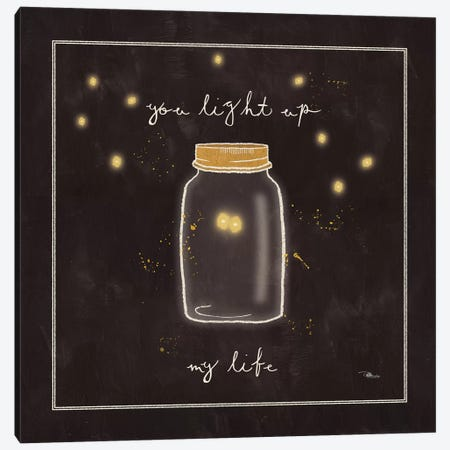 Firefly Glow I Canvas Print #WAC3229} by All That Glitters Canvas Wall Art