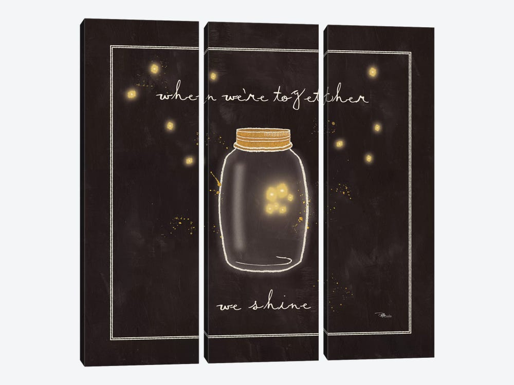 Firefly Glow II by All That Glitters 3-piece Canvas Artwork