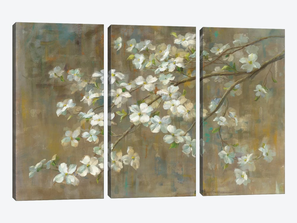 Dogwood in Spring by All That Glitters 3-piece Canvas Print