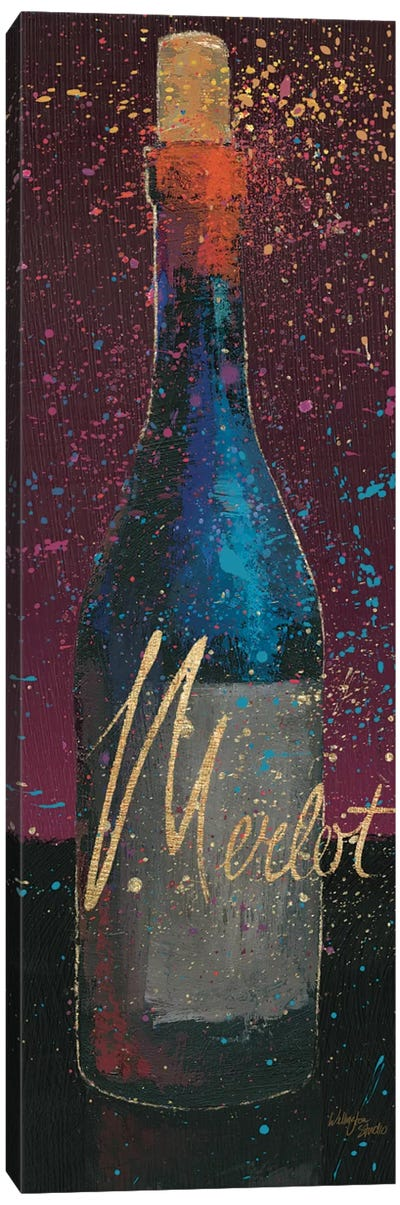 Wine Splash Dark IV Canvas Print #WAC3232