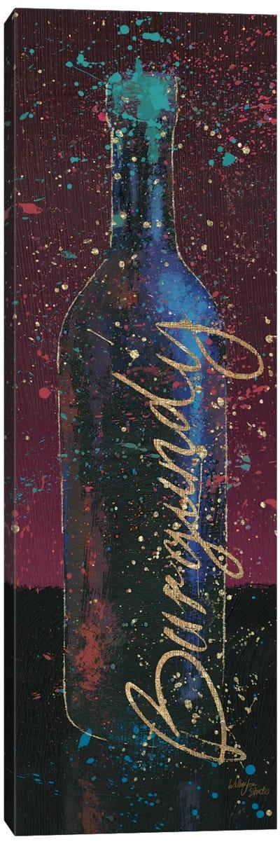 Wine Splash Dark V Canvas Print #WAC3233