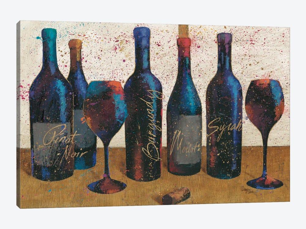 Wine Splash Light I by All That Glitters 1-piece Canvas Artwork