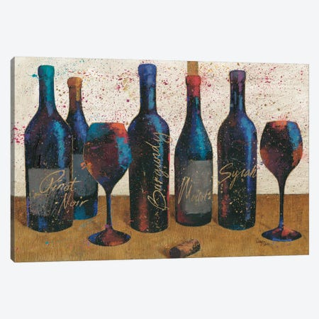 Wine Splash Light I Canvas Print #WAC3234} by All That Glitters Canvas Art