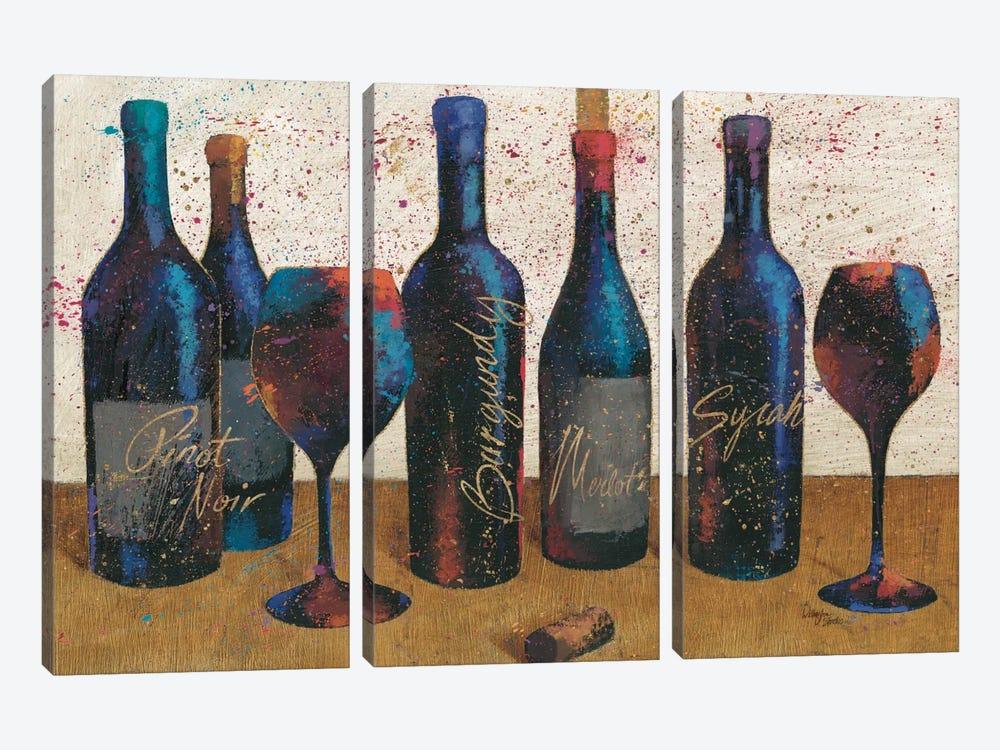 Wine Splash Light I by All That Glitters 3-piece Canvas Art