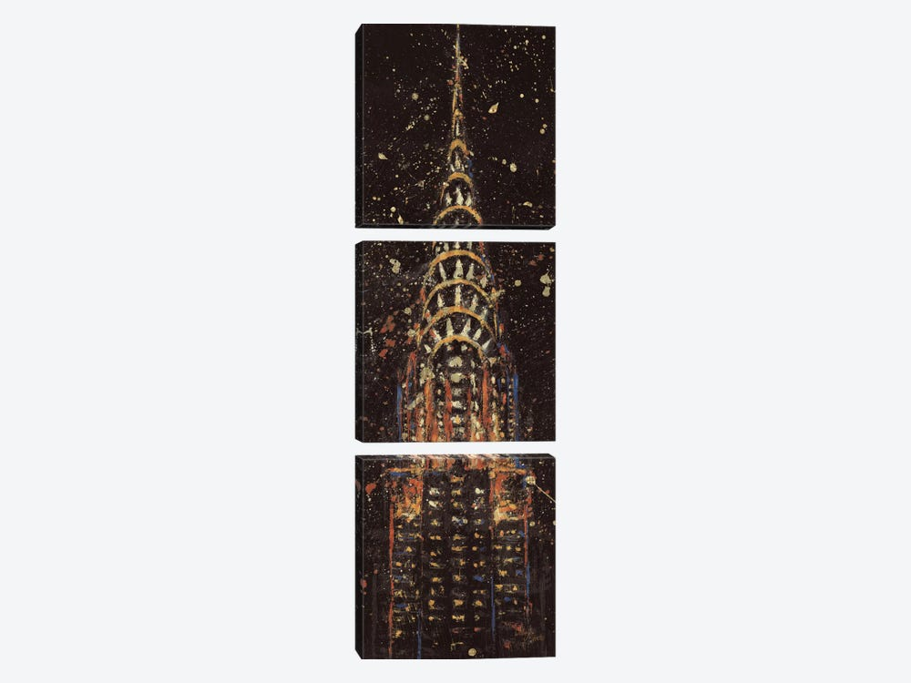 Cities at Night II by All That Glitters 3-piece Canvas Wall Art