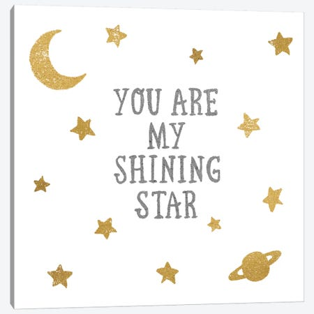 Shining Star Canvas Print #WAC3237} by All That Glitters Canvas Artwork