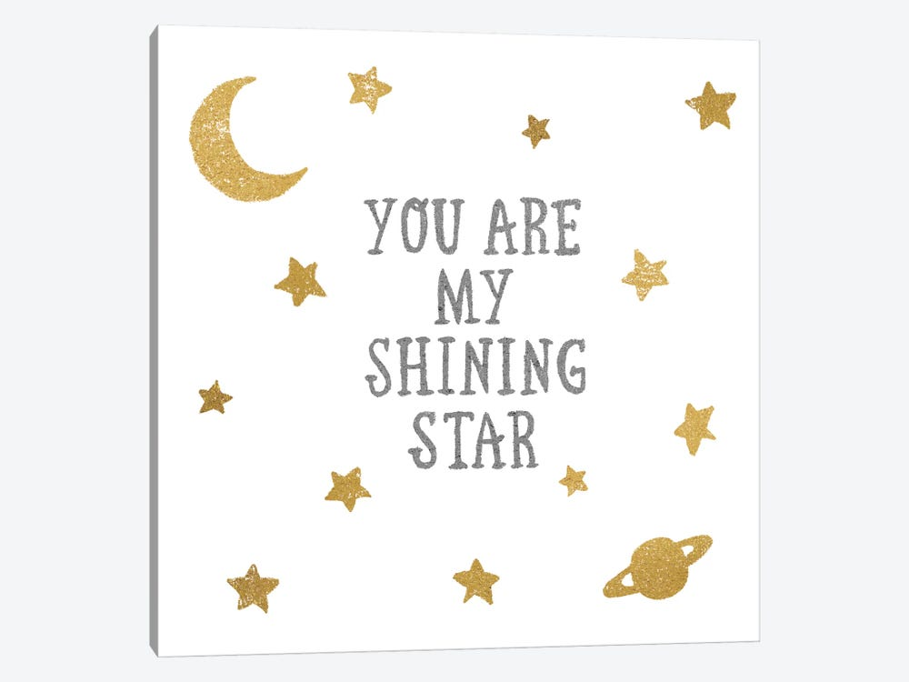 Shining Star by All That Glitters 1-piece Canvas Art Print