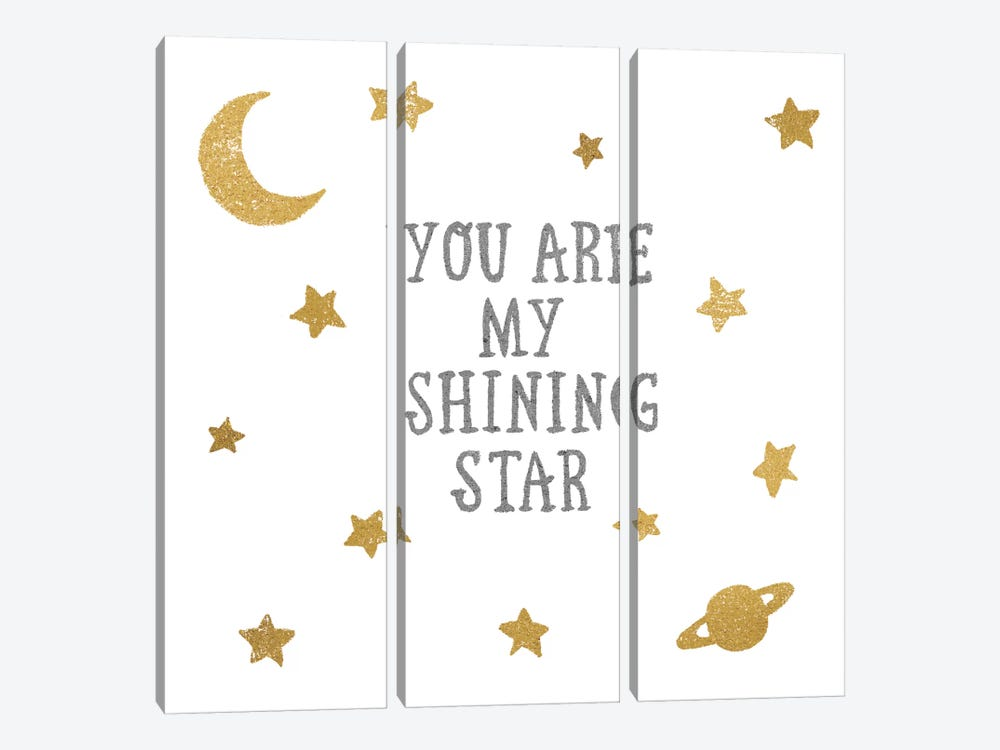 Shining Star by All That Glitters 3-piece Canvas Art Print