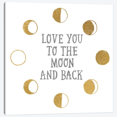 To the Moon Canvas Print #WAC3238} by All That Glitters Art Print