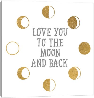 To the Moon Canvas Print #WAC3238