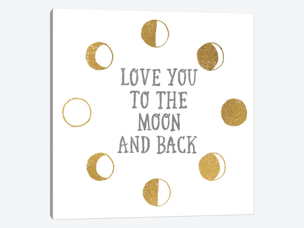 To the Moon by All That Glitters 1-piece Canvas Art