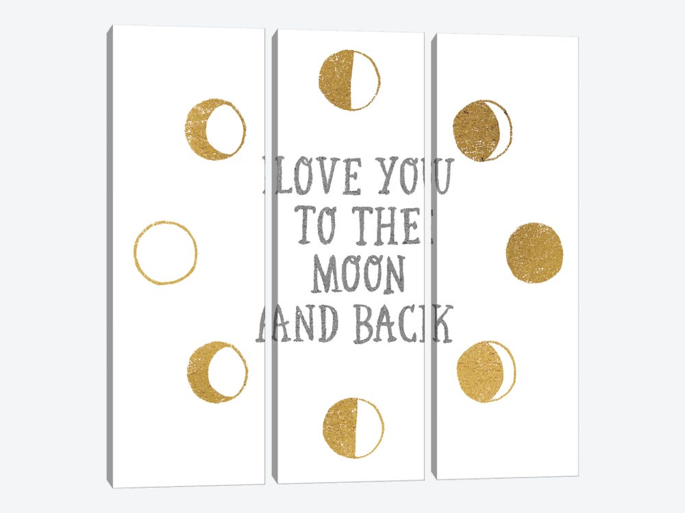 To the Moon by All That Glitters 3-piece Canvas Art