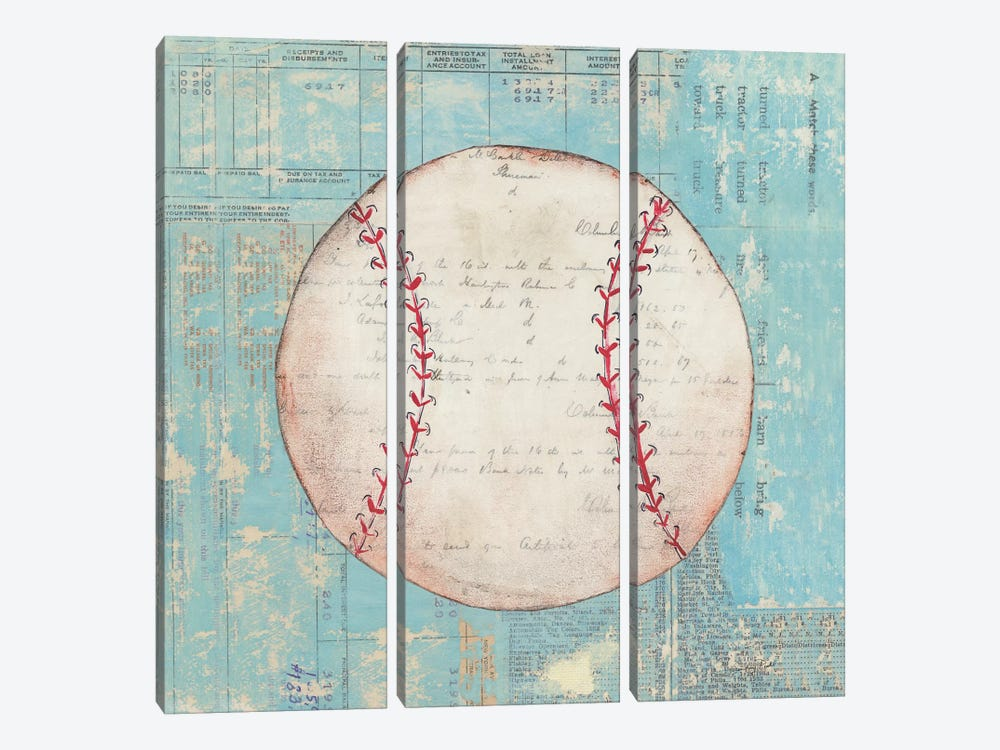 Play Ball I by Courtney Prahl 3-piece Canvas Wall Art