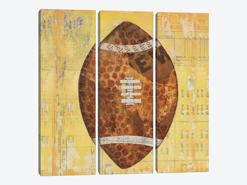 Play Ball II by Courtney Prahl 3-piece Canvas Artwork