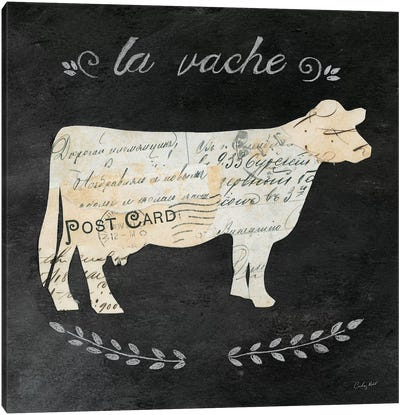 La Vache Cameo Canvas Art Print