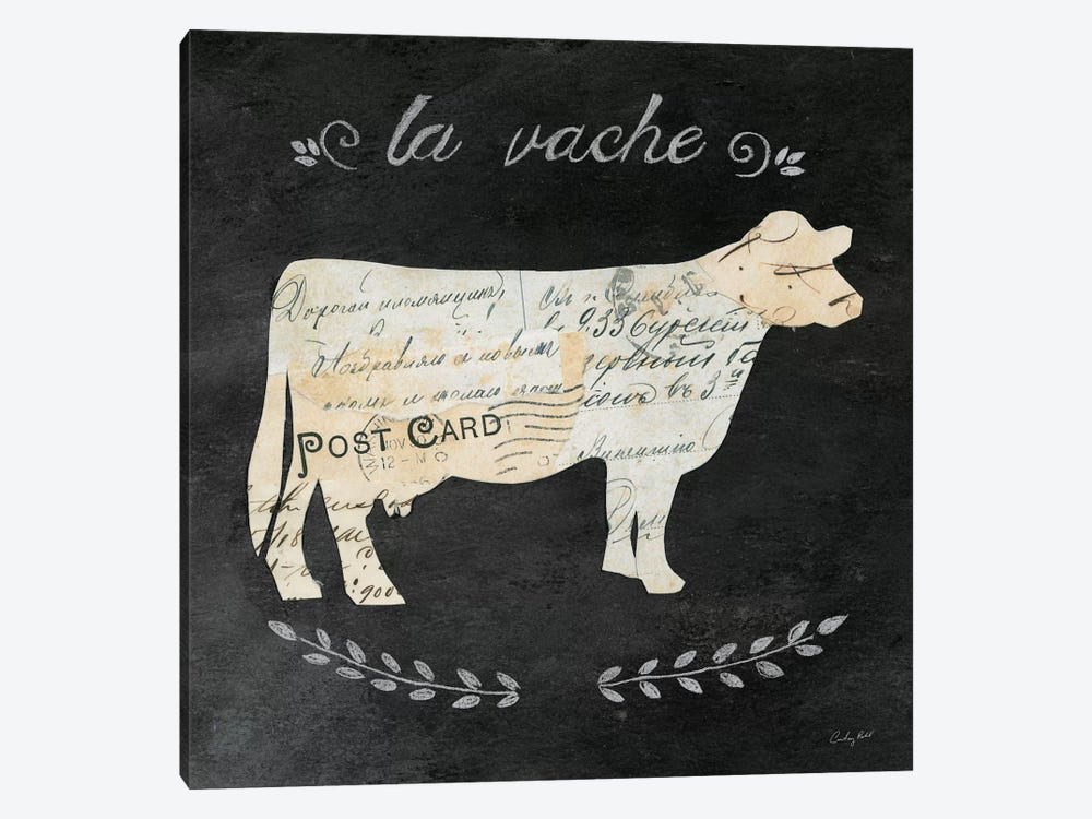 La Vache Cameo by Courtney Prahl 1-piece Canvas Art Print