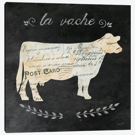 La Vache Cameo Canvas Print #WAC3253} by Courtney Prahl Art Print