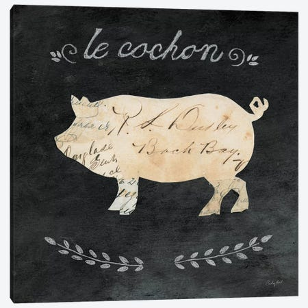 Le Cochon Cameo Canvas Print #WAC3254} by Courtney Prahl Canvas Wall Art
