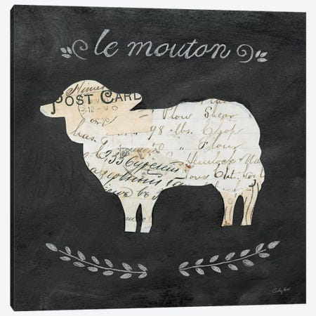 Le Mouton Cameo Canvas Print #WAC3256} by Courtney Prahl Canvas Art