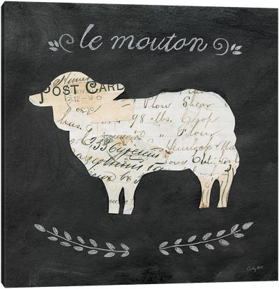 Le Mouton Cameo Canvas Art Print