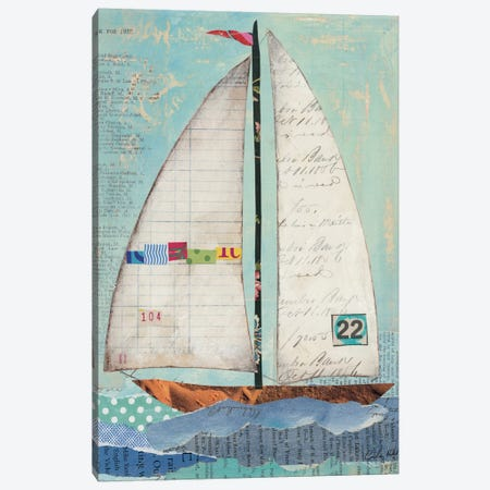 At the Regatta II Canvas Print #WAC3258} by Courtney Prahl Art Print