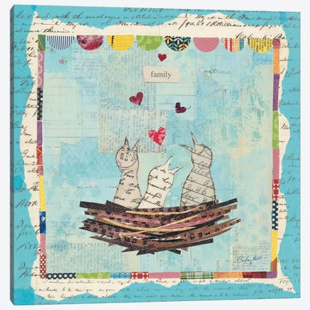 Blue Love Birds Canvas Print #WAC3261} by Courtney Prahl Canvas Artwork
