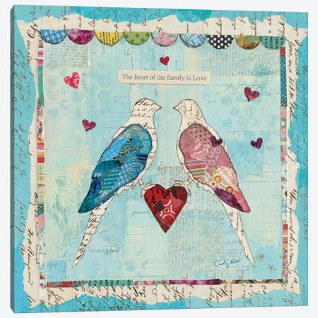 Love Birds Canvas Print #WAC3262} by Courtney Prahl Canvas Wall Art