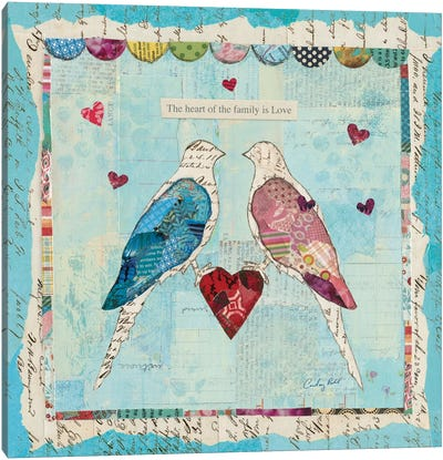 Love Birds Canvas Print #WAC3262