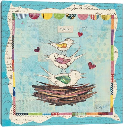 Family of Love Birds Canvas Print #WAC3263