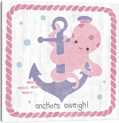 Nautical Friends III Girly Canvas Art Print