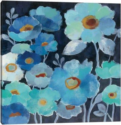 Indigo Flowers III Canvas Print #WAC3286