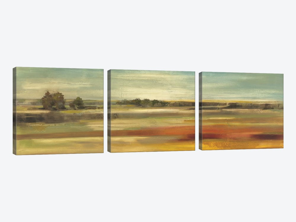 Emerald Meadows by Silvia Vassileva 3-piece Canvas Artwork