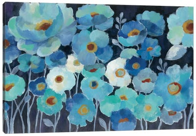 Indigo Flowers I by Silvia Vassileva Canvas Art Print