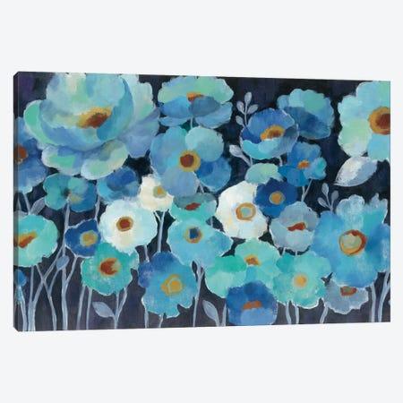Indigo Flowers I Canvas Print #WAC3294} by Silvia Vassileva Canvas Artwork