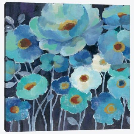 Indigo Flowers II Canvas Print #WAC3295} by Silvia Vassileva Canvas Art