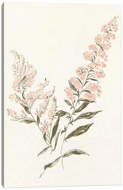 Flowers on White I Canvas Art Print