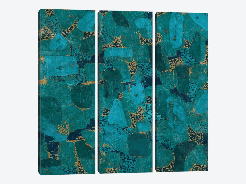 Gilded Stone by Wild Apple Portfolio 3-piece Canvas Wall Art