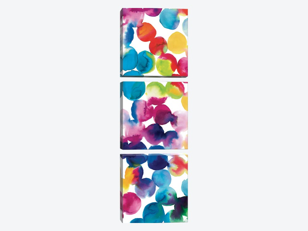Bright Circles II by Wild Apple Portfolio 3-piece Canvas Print