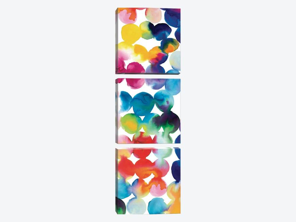 Bright Circles III by Wild Apple Portfolio 3-piece Canvas Wall Art