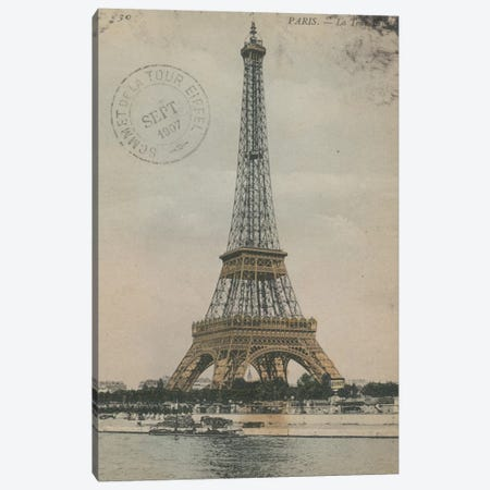 La Tour Eiffel III Canvas Print #WAC3308} by Wild Apple Portfolio Canvas Print