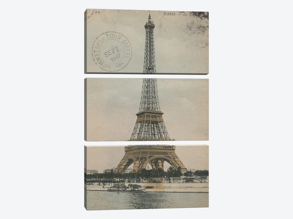 La Tour Eiffel III 3-piece Canvas Wall Art