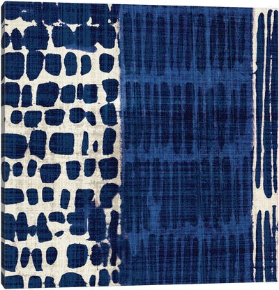 Indigo Batik I Canvas Art Print