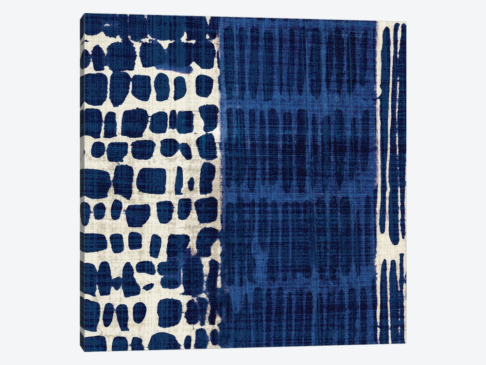 Indigo Batik I by Wild Apple Portfolio 1-piece Canvas Art Print